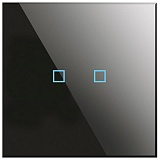 Заказать BX-Q02B Blumotix KRISTAL KNX Push Buttons 2-keys, Black Glass в магазине MODA LED