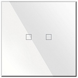 Заказать BX-Q02W Blumotix KRISTAL KNX Push Buttons 2-keys, White Glass в магазине MODA LED