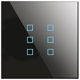 Заказать BX-Q06B Blumotix KRISTAL KNX Push Buttons 6-keys, Black Glass в магазине MODA LED