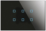 Заказать BX-R06B Blumotix KRISTAL KNX Push Buttons 6-keys, Black Glass в магазине MODA LED
