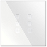 Заказать BX-Q06W Blumotix KRISTAL KNX Push Buttons 6-keys, White Glass в магазине MODA LED