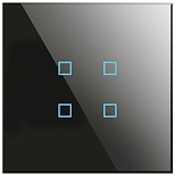 Заказать BX-Q04B Blumotix KRISTAL KNX Push Buttons 4-keys, Black Glass в магазине MODA LED