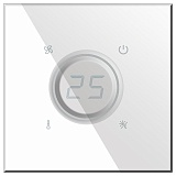Заказать BX-Q07W Blumotix KRISTAL KNX Thermostat, White Glass в магазине MODA LED