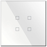 Заказать BX-Q04W Blumotix KRISTAL KNX Push Buttons 4-keys, White Glass в магазине MODA LED